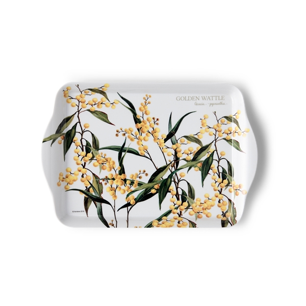 Floral emblems wattle scatter tray