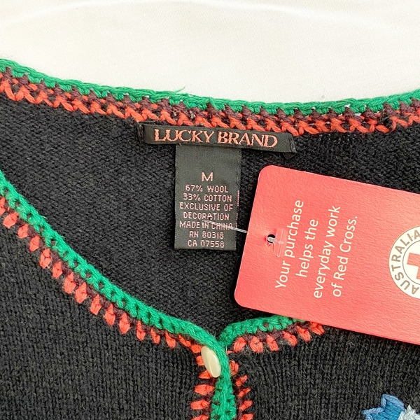Lucky Brand vintage style cardi