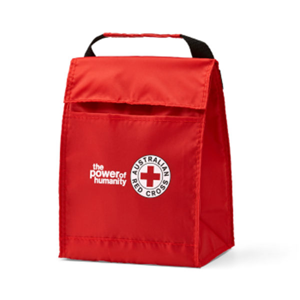 Red Cross lunch cooler bag